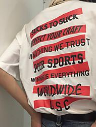 americano cartello uomini e le donne di cotone inglese marchio marea rossa maglietta a strisce slogan skate tee