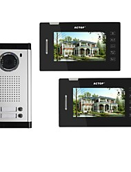 cheap -ACTOP 7inch 4wire Touch Screen Multi Apartment Video Door Phone Intercom System With 2 Call Buttons