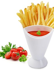 1Pcs   New Arrived Kitchen Potato Tool Tableware French Fry Cone With Dipping Cup