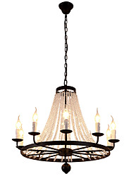cheap -LightMyself 10 Lights Chandelier Modern/Contemporary Traditional/Classic Rustic/Lodge Tiffany Vintage Retro Lantern Drum Country Island Globe Bowl