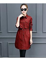 Girls long paragraph windbreaker jacket spring and autumn 2016 new Women Korean Slim thin Ms. army green jacket