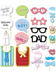 20pcs Baby Shower Photo Booth Props Photobooth Party Decoration