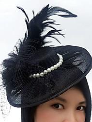 billige -feather net fascinators hatte birdcage slør headpiece elegant stil