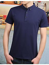 cheap -Men's Cotton Polo - Solid Colored Shirt Collar