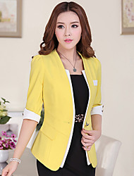 cheap -Women's Work Blazer - Solid Colored, Classic
