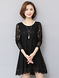 cheap -Sign 2017 spring new large size women's 200 pounds of fat mm lace long-sleeved dress shirt tide
