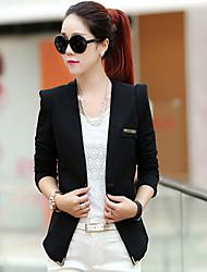 baratos -Mulheres Ternos/Conjuntos Poá Listrado Colarinho de Camisa