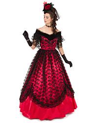 Steampunk®Marie Antoinette Masquerade Victorian Satin Victorian Civil War Ballgown