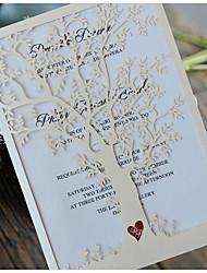 Недорогие -Сложенные Свадебные приглашения 50 - Пригласительные билеты / Образец приглашения / Открытки на День рождения Современный Картон