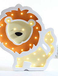 Nordic Style LED Night Light Table Lamp Wall Lamp Wall Decoration LED Ornament Children Room Decoration Cute Little Lion Cartoon Lamp