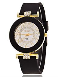 Women's Sport Watch Dress Watch Fashion Watch Wrist watch Simulated Diamond Watch Large Dial Quartz Silicone Band Charm Multi-Colored