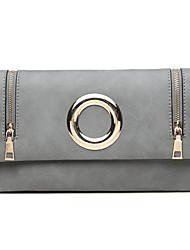 cheap -Women Bags PU Wristlet Metallic for Wedding Event/Party Casual Sports Formal Outdoor Office & Career All Seasons Black Blushing Pink Gray