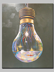 cheap -Hand-Painted Light Bulb Oil Painting On Canvas Modern Abstract Wall Art Picture For Home Decoration Ready To Hang