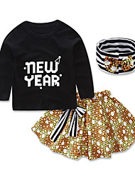 New Kids Princess Sets Clothes Hair Band Shirts Children's Clothing Set Girls Clothes Girl Baby Cotton Siut