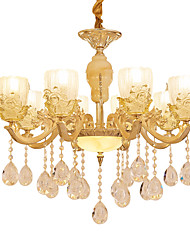 European Style Atmosphere Zinc Alloy Crystal Living Room Bedroom Home Chandelier B