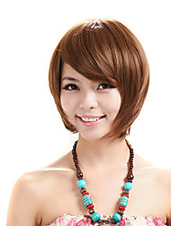 Capless Short BOB Wig Kinky Straight Synthetic Fiber Costume Wig Party Wig