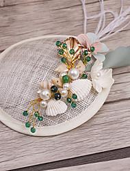 cheap -Imitation Pearl Lace Fabric Fascinators Headpiece Elegant Style