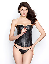 cheap -Leatherette With Plastic Boning Corset Shapewear Sexy Lingerie Shaper