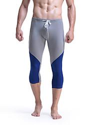 Men's Running Pants Breathable Leggings Bottoms for Exercise & Fitness Running Cotton Slim White Orange Gray Red Green M L XL