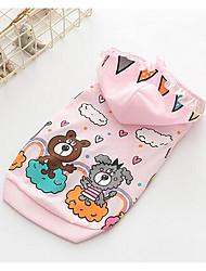 economico -Cane Tuta Abbigliamento per cani Traspirante Romantico Casual Di tendenza Jeans Bianco Rosa Costume Per animali domestici