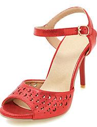 Da donna Sandali Scarpe Hole Club Shoes Finta pelle Primavera Estate Formale Scarpe Hole Club Shoes Fibbia A quadri A stilettoOro Argento