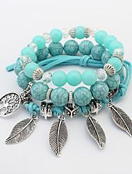 cheap -Women's Charm Bracelet Strand Bracelet Costume Jewelry Fashion Bohemian Acrylic Resin Alloy Leaf Jewelry For Party Gift