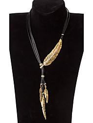 Недорогие -Жен. Заявление ожерелья - Уникальный дизайн, Турецкий Золотой, Серебряный Ожерелье Бижутерия Назначение Для вечеринок, Повседневные