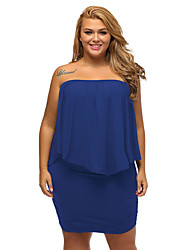 Women's Plus Size Multiple Dressing Layered Mini Dress
