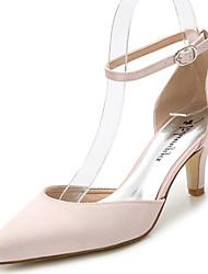 Femme-Mariage Extérieure Bureau & Travail Habillé Soirée & Evénement-Blanc Noir Rose dragée clair Bleu royal-Talon Aiguille-D'Orsay &