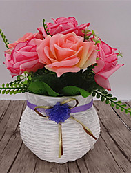 1 Branch Dried Flower Roses Tabletop Flower Artificial Flowers