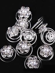 abordables -perla rhinestone pinza de pelo herramienta para el cabello casco clásico estilo femenino