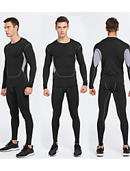 SPAKCT Men's Baselayer Waterproof for Exercise & Fitness Running Japanese Cotton Slim Black M L XL XXL