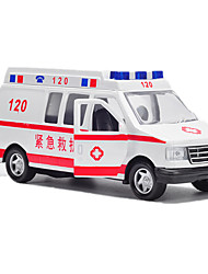 cheap -Toy Cars Police car Ambulance Vehicle Toys Pull Back Vehicles Music & Light Car ABS Metal Alloy Metal Pieces Kids Unisex Gift