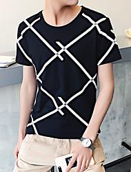 Rayas diagonales hombres impresos&# 39; s de manga corta camiseta de fondo camisa viento aberdeen