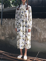signe neige impressions douce petite fleur vent design robe en mousseline de soie col en dentelle