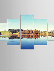 Photographic Print Landscape Classic Mediterranean,Five Panels Canvas Any Shape Print Wall Decor For Home Decoration