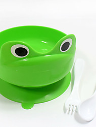 2017 new style creative Frog style Green plastic Dog bowl with a function of adsorption Pet bowls Christmas gift Pet supplies