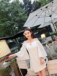 unterzeichnet Kleid Rock thailand tide Marke Spitze Halterkleid Urlaub Strand Göttin sexy trägerlos