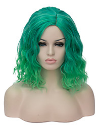 European and American fashion daily small pure and fresh and green gradient Instant noodles party cos wig 1890