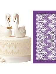 cheap -New Design Princess Mesh Stencils for Wedding Cake Lace Moulds Decorating Tools DIY Baking Accessories Dining Bakeware MST-54