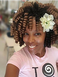 kanekalon curls Bouncy Curl synthetic Crochet Braids Hair Extensions Kanekalon Hair Braids crochet hair 20roots/pack 100roots make one head