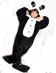 Kigurumi Pigiami Panda Calzamaglia/Pigiama intero Pantofole Feste/vacanze Pigiama a fantasia animaletto Halloween Collage Vello di corallo