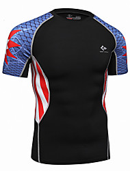 cheap -Realtoo Men's Running T-Shirt Short Sleeves Quick Dry Top for Exercise & Fitness Running Terylene Slim M L XL XXL