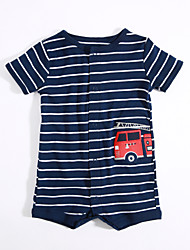 cheap -Baby Boys' Daily Striped One-Pieces, Cotton Summer Short Sleeves Blue