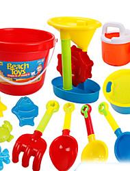 Недорогие -Игрушки для пляжа Песочные часы Игрушечные машинки Пляжные игрушки Игрушки Игрушки Праздник Оригинальные Веселье Мальчики Девочки 13 Куски