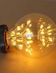 1pcs E27 G95 2.5W 300-350LM LED Filament Bulbs COB Warm White Fireworks Lamp AC220-240V 1pc