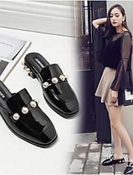 abordables -Femme Chaussures Polyuréthane Confort Sabot & Mules Talon Bottier pour Décontracté Noir Vert