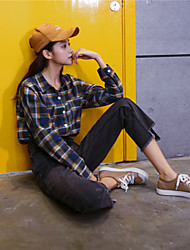 Sign new do old waist was thin loose BF wind straight jeans denim trousers female collapse