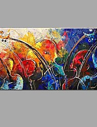 cheap -Handmade Oil Painting Abstract Music violin with Wall Art Home Decor Stretched Framed Ready To Hang SIZE50*100cm