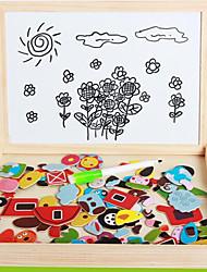Недорогие -Игрушка для рисования Игрушечные планшеты для рисования 3D пазлы Пазлы Игрушки Игрушки Магнитный Своими руками Дерево Детские Куски